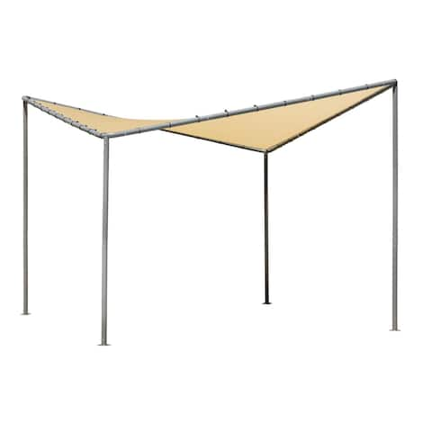 10x10 Del Ray Canopy Charcoal Frame Tan Cover