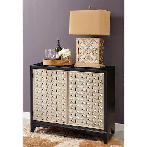 Pandora Black and Metallic Bar Cabinet