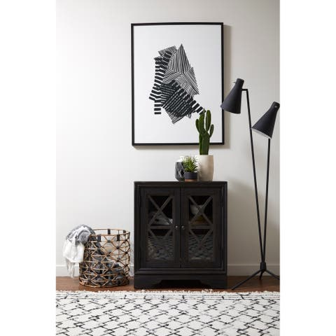 Distressed Charcoal Black Rustic Barn-inspired 2-door Accent Chest