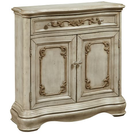 Esprit Weathered White Hall Chest