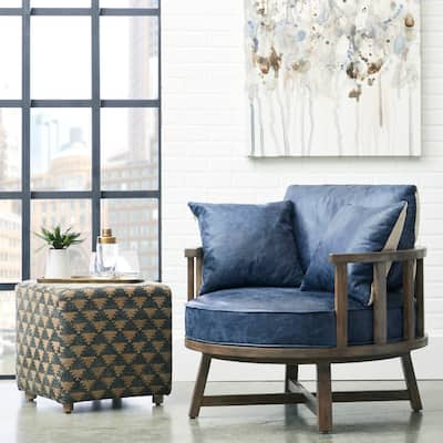 navy blue swivel chairs