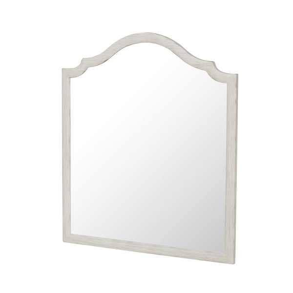Driftwood White Beachcomber Shaped Wall Mirror