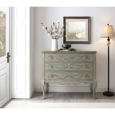 Painted Laurel Parisian Grey 3-drawer Accent Chest