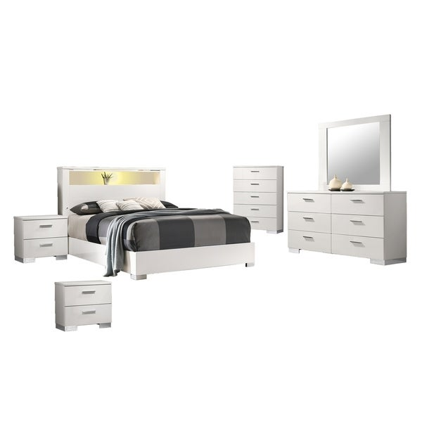 Best Quality Furniture Rose 6-Piece Bedroom Set