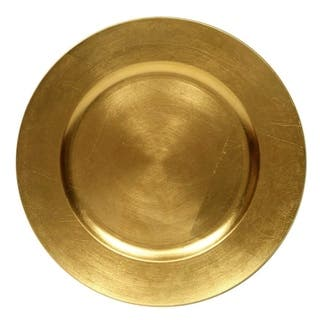 Round Charger Dinner Plates, Gold 13 inch, Set of 1,2,4,6, or 12 Perfect for Christmas, Thanksgiving, Easter, Special Events