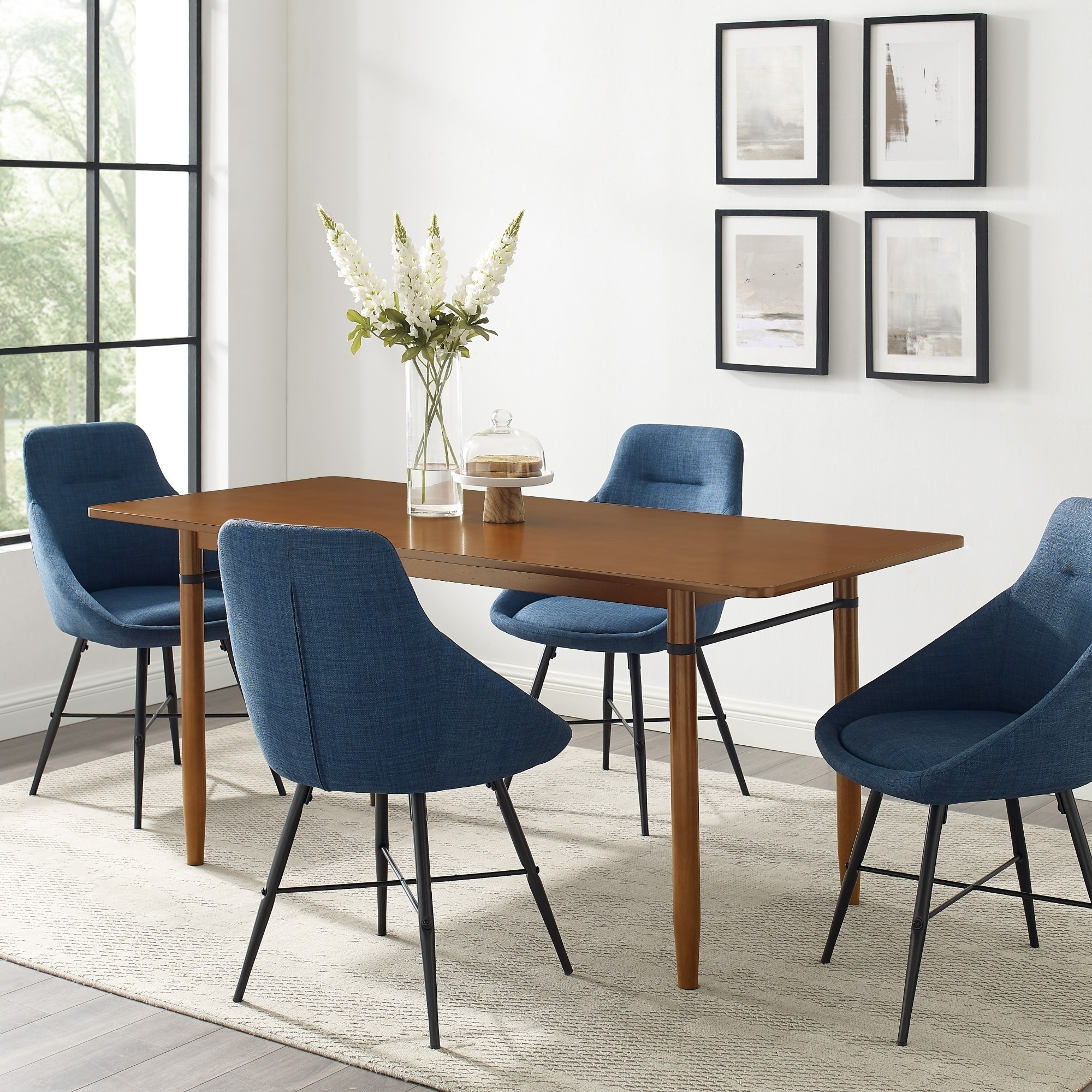 Picture of: Shop Black Friday Deals On Carson Carrington 68 Mid Century Modern Dining Table On Sale Overstock 30279345