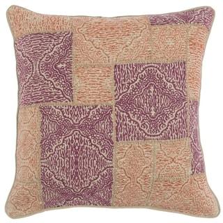 Kosas Home Mynos Embroidered 100% Linen 22-inch Throw Pillow