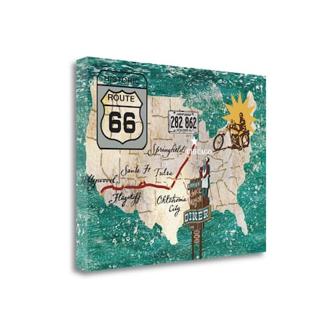 """""""Retro Roadtrip II"""" by James Nocito, Fine Art Giclee Print on Gallery Wrap Canvas, Ready to Hang"""