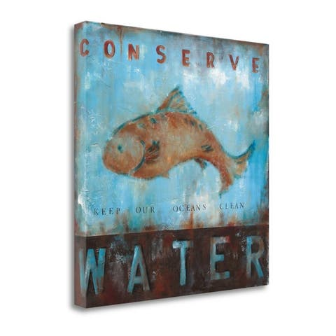 """""""Conserve Water"""" by Wani Pasion, Fine Art Giclee Print on Gallery Wrap Canvas, Ready to Hang"""