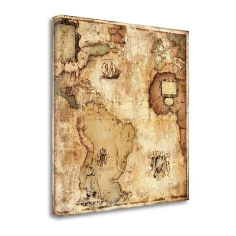 """""""Map of Discovery"""" by Paul Panossian, Fine Art Giclee Print on Gallery Wrap Canvas, Ready to Hang"""