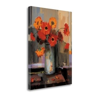 """""""Floral Sunset"""" By Jennie Tomao, Fine Art Giclee Print on Gallery Wrap Canvas, Ready to Hang"""