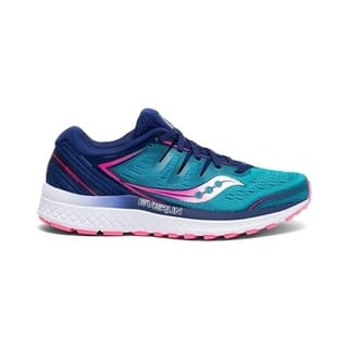 Saucony Womens Guide ISO 2 Running Shoe - Teal/Pink - Size 7.5