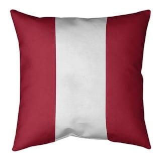 Atlanta Atlanta Football Stripes Pillow (w/Rmv Insert)-Spun Poly