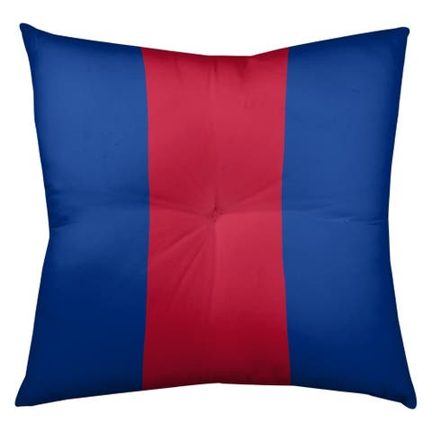 Buffalo Buffalo Football Stripes Floor Pillow - Square Tufted