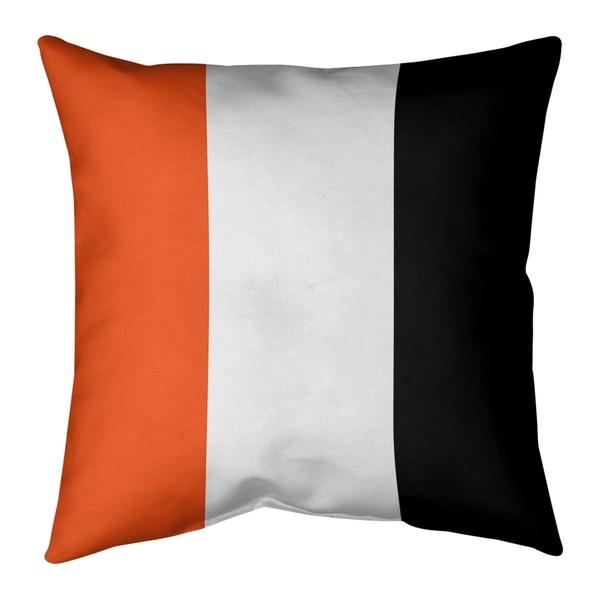 Cincinnati Cincinnati Football Stripes Pillow (w/Rmv Insert)-Spun Poly