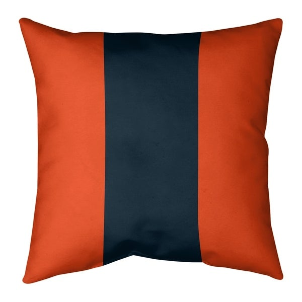 Chicago Chicago Throwback Football Stripes Pillow (w/Rmv Insert)-Spun Poly