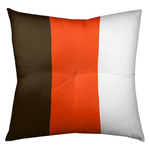 Cleveland Cleveland Football Stripes Floor Pillow - Square Tufted