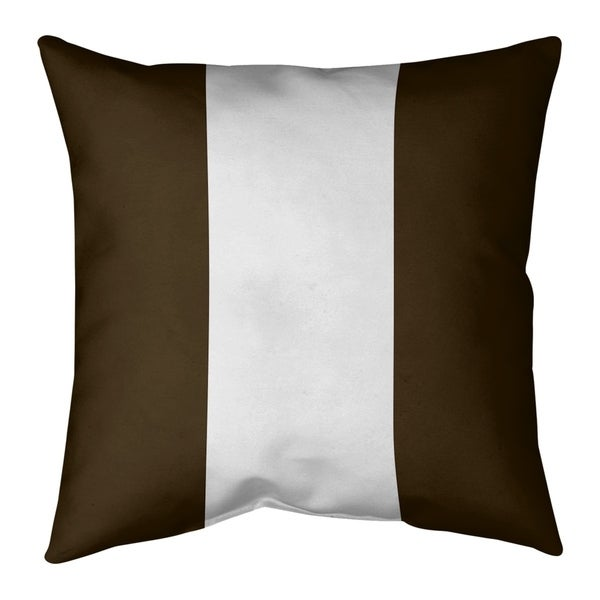 Cleveland Cleveland Football Stripes Pillow-Faux Suede