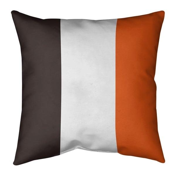 Cleveland Cleveland Throwback Football Stripes Floor Pillow - Standard