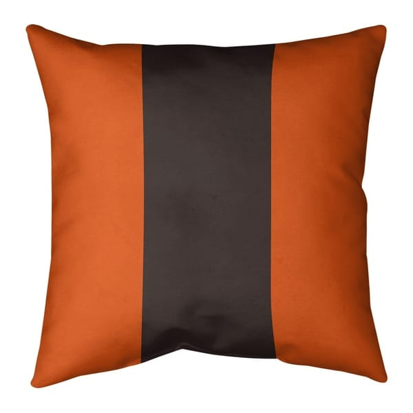 Cleveland Cleveland Throwback Football Stripes Pillow-Faux Linen