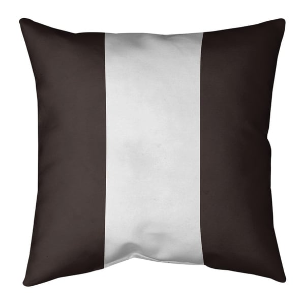 Cleveland Cleveland Throwback Football Stripes Pillow (Indoor/Outdoor)