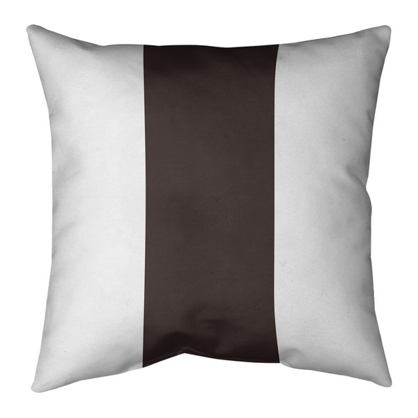 Cleveland Cleveland Throwback Football Stripes Pillow-Faux Suede