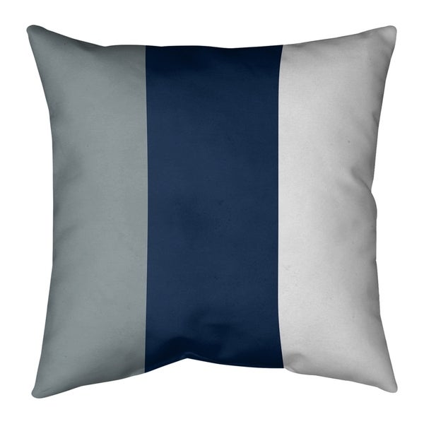 Dallas Dallas Football Stripes Pillow-Faux Suede