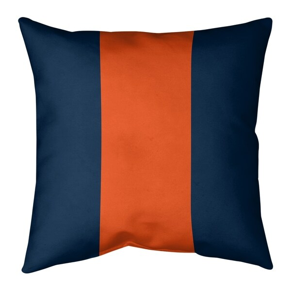 Denver Denver Football Stripes Pillow (w/Rmv Insert)-Spun Poly