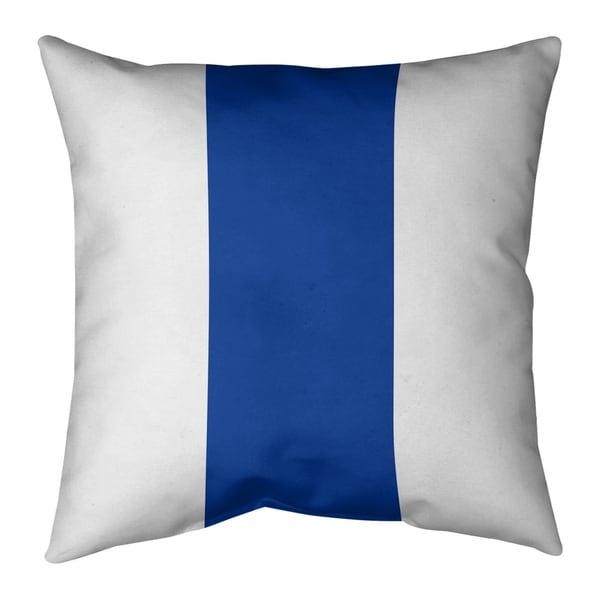 Dallas Dallas Football Stripes Pillow-Faux Linen