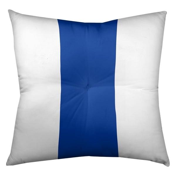 Dallas Dallas Football Stripes Floor Pillow - Square Tufted