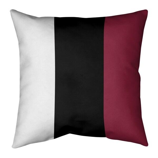 Arizona Arizona Football Stripes Pillow-Faux Suede