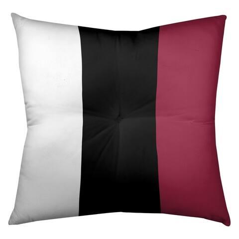Arizona Arizona Football Stripes Floor Pillow - Square Tufted