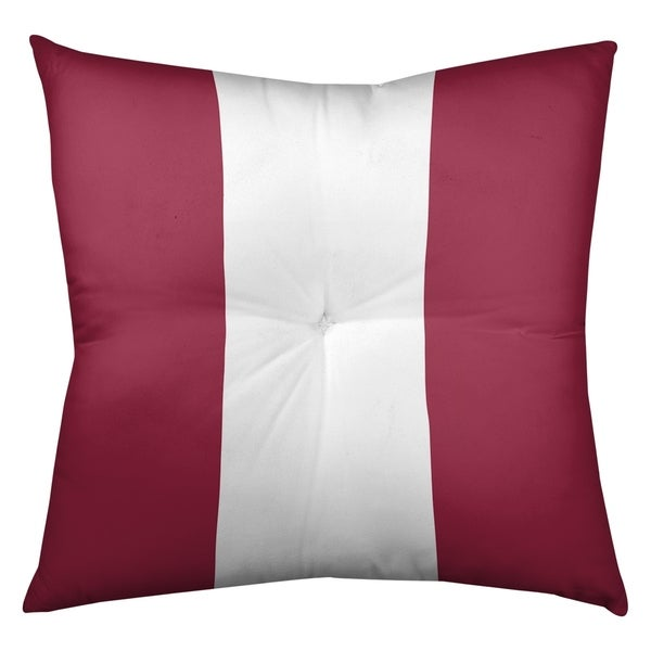 Arizona Arizona Football Stripes Floor Pillow - Square Tufted