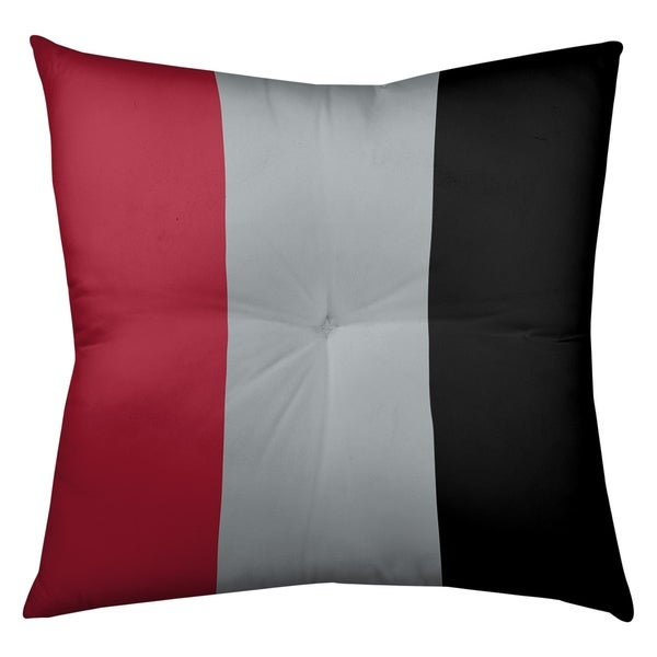 Atlanta Atlanta Football Stripes Floor Pillow - Square Tufted