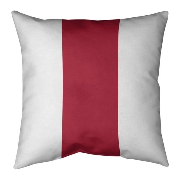 Atlanta Atlanta Football Stripes Pillow-Spun Polyester