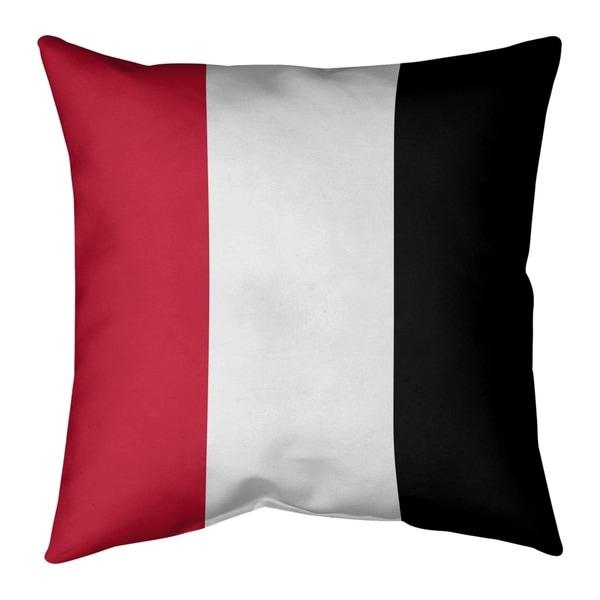 Atlanta Atlanta Throwback Football Stripes Pillow-Cotton Twill