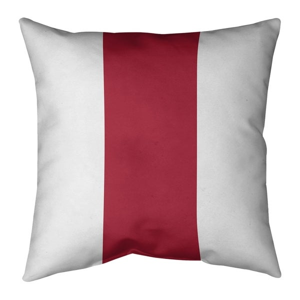 Atlanta Atlanta Football Stripes Pillow (w/Rmv Insert)-Spun Poly