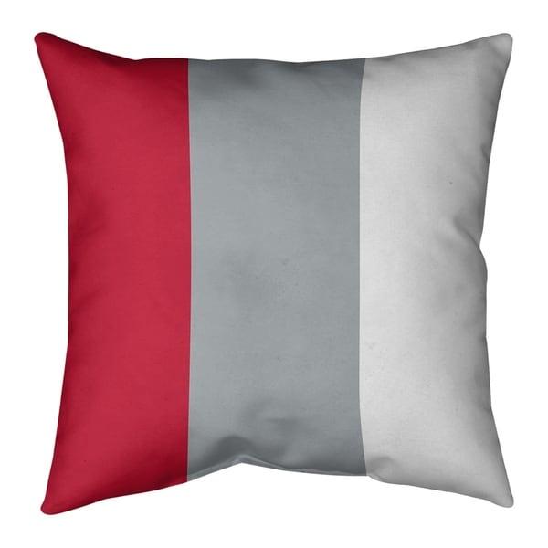 Atlanta Atlanta Throwback Football Stripes Pillow (w/Rmv Insert)-Spun Poly