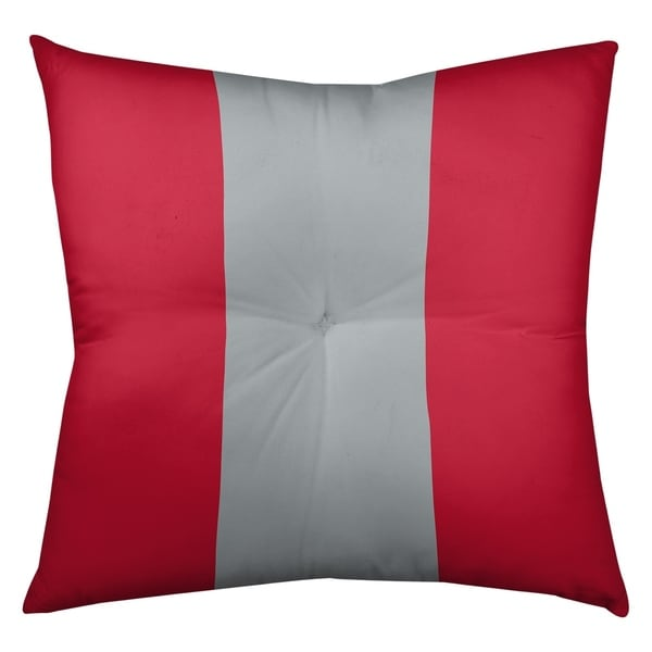 Atlanta Atlanta Throwback Football Stripes Floor Pillow - Square Tufted