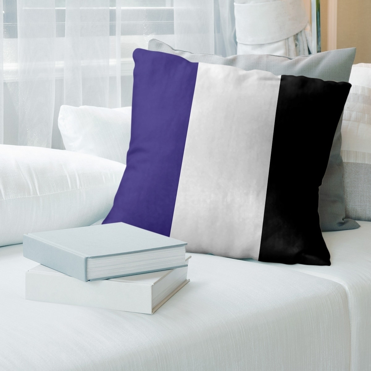 shop baltimore baltimore football stripes floor pillow standard overstock 30282828 overstock com