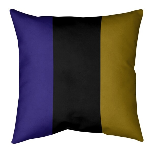 Baltimore Baltimore Football Stripes Floor Pillow - Standard