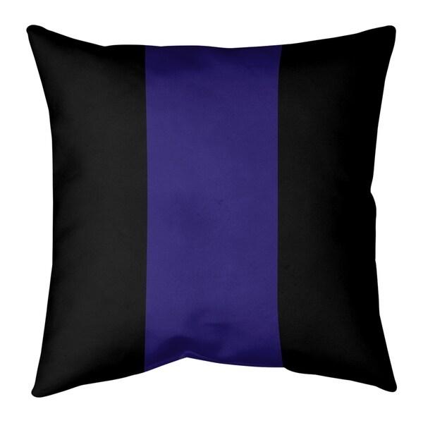 Baltimore Baltimore Football Stripes Pillow (w/Rmv Insert)-Spun Poly