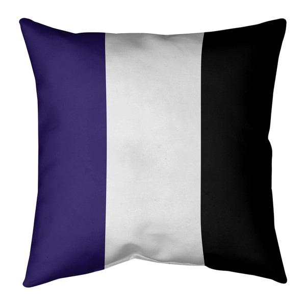 Baltimore Baltimore Throwback Football Stripes Pillow-Cotton Twill