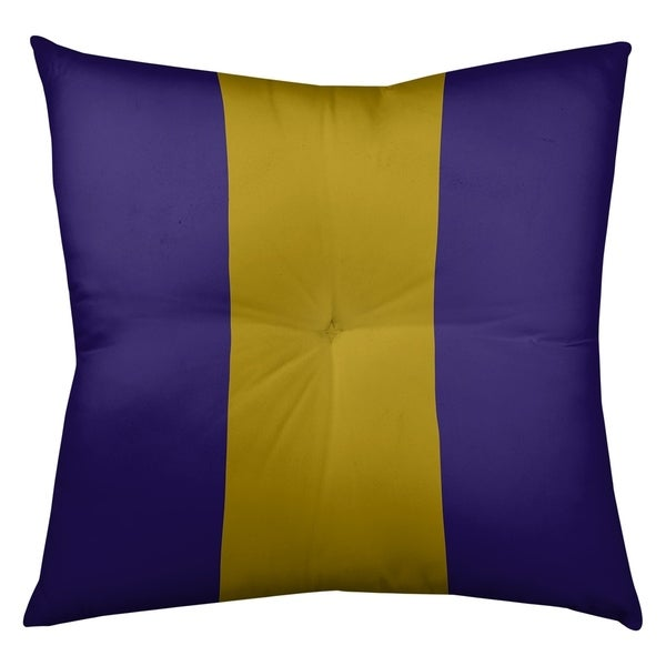Baltimore Baltimore Throwback Football Stripes Floor Pillow - Square Tufted