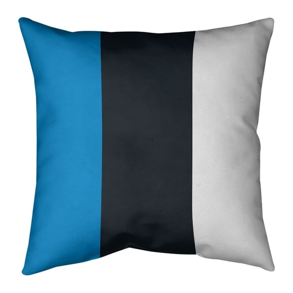 Carolina Carolina Football Stripes Pillow-Faux Linen