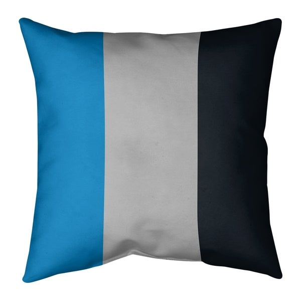 Carolina Carolina Football Stripes Pillow (w/Rmv Insert)-Spun Poly