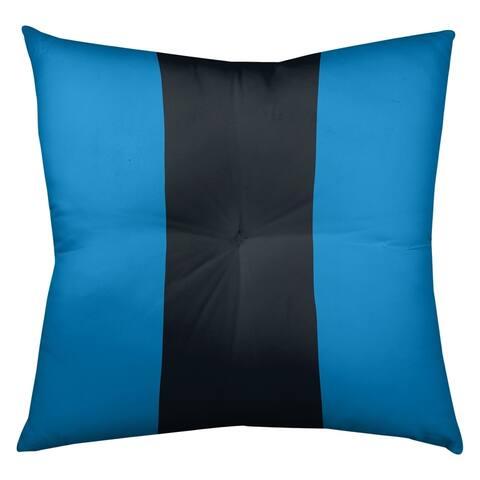 Carolina Carolina Football Stripes Floor Pillow - Square Tufted