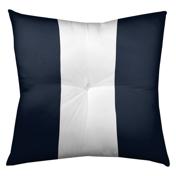 Chicago Chicago Football Stripes Floor Pillow - Square Tufted