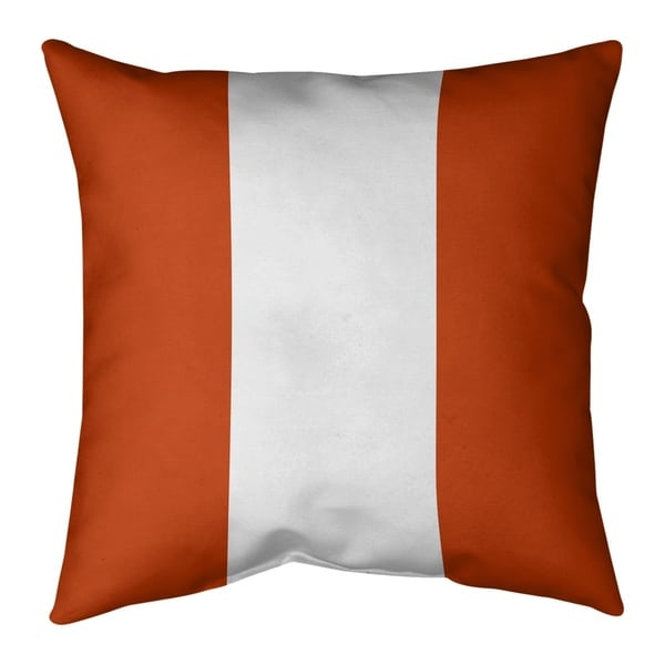 Chicago Chicago Football Stripes Pillow (w/Rmv Insert)-Spun Poly
