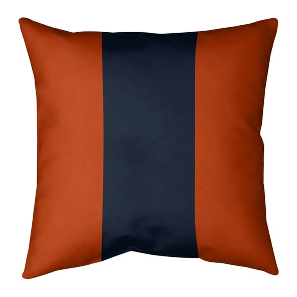 Chicago Chicago Football Stripes Pillow (Indoor/Outdoor)